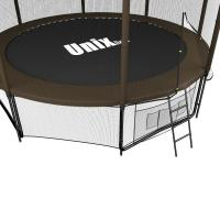Батут UNIX line 12 ft Black&Brown (outside)_2